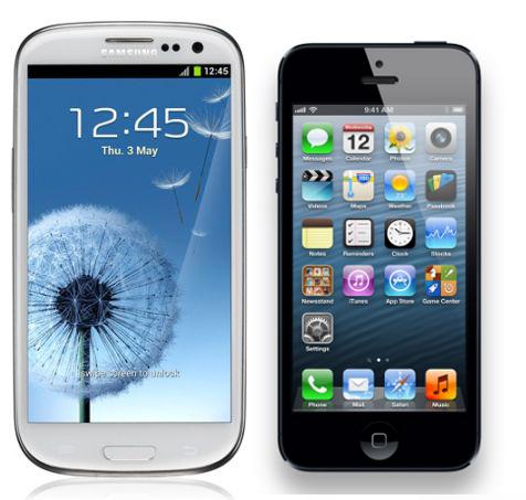 """Samsung Galaxy S III """"aplasta"""" el iPhone 5 en los puntos de referencia. Sgs3-ip5"""